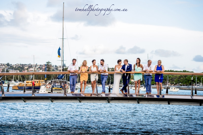 Wedding Party at the Marina