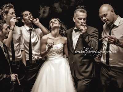 Would the Bride Care for a Cigar? Yes! | Brisbane Wedding Photographer - Tom Hall Photography